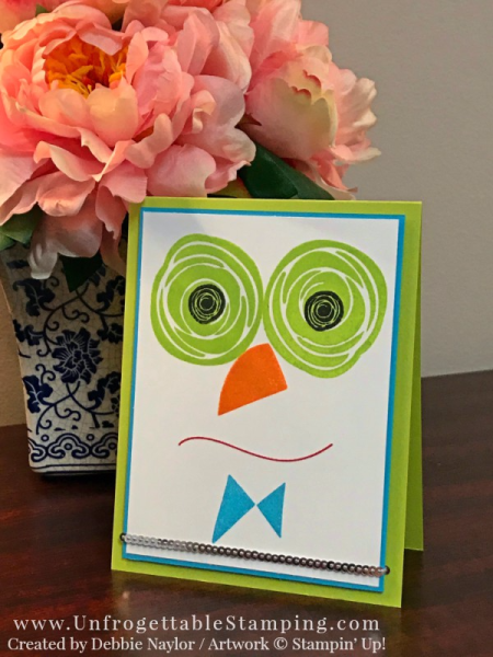 Unfrogettable Stamping | Fabulous Friday Silly Monster card featuring the Swirly Bird stamp set by Stampin' Up!