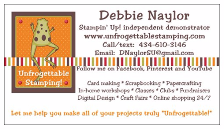 Unfrogettable Stamping   Contact Me!