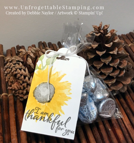 Unfrogettable Stamping | Fabulous Friday thank you Card and matching candy favor featuring the Painted Harvest stamp set by Stampin' Up!