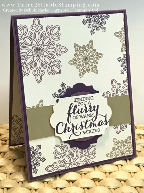 Unfrogettable Stamping | Stampers Dozen Dec 2017 Non-traditional Christmas cards featuring the Snow Flurry and Watercolor Christmas stamp sets