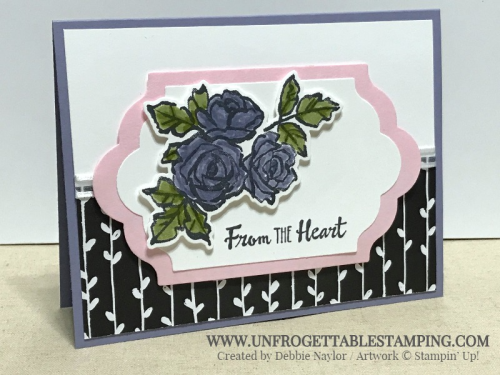 Unfrogettable Stamping | Fabulous Friday card featuring the Petal Passion Suite - Petal Palette bundle, Petal Passion DSP and whisper white organza ribbon - from the Occasions catalog by Stampin' Up!