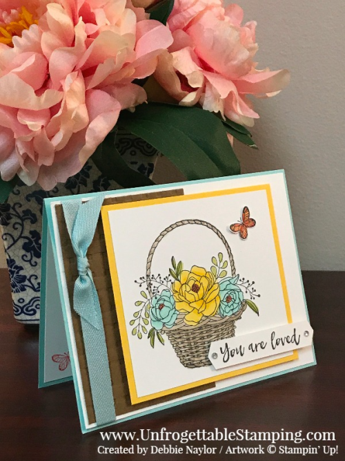 Unfrogettable Stamping | Stampers Dozen Blog Hop project featuring the Blooming Basket bundle that you can get for FREE with a qualifying $100 purchase during Sale-a-Bration from Stampin' Up!