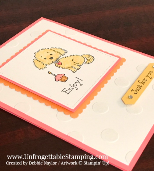 Unfrogettable Stamping   Fabulous Friday Color Combo card featuring the Bella & Friend's stamp set from Stampin' Up!