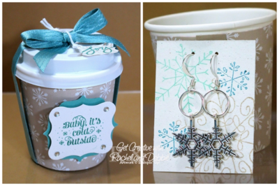 Unfrogettable Stamping | 2014 Week 6 Snowflake Earrings gift set tutorial for purchase