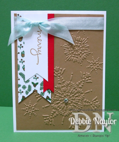 Unfrogettable Stamping | Week 9 QE Christmas Snowflake Banner card