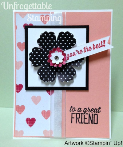 Unfrogettable Stamping | QE Simply Wonderful Friend card 2015-01-12