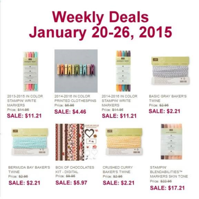Unfrogettable Stamping | Stampin' Up! Weekly Deals for Jan 20-26, 2015