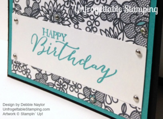 Unfrogettable Stamping | Fabulous Friday Something Lacy Birthday card