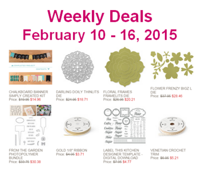 Unfrogettable Stamping | Stampin' Up! Weekly Deals for the week of Feb 10-16
