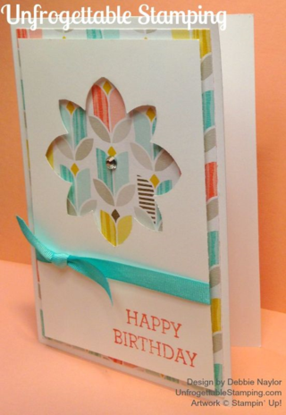 "Unfrogettable Stamping | Quick & Easy Crazy About You birthday card featuring the ""Best Year Ever"" DSP by Stampin' Up!"