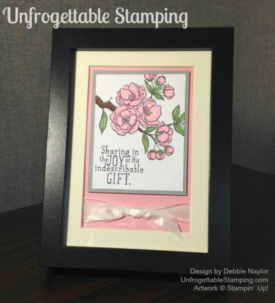 Unfrogettable Stamping | Office art work featuring Indescribable Gift stamp set by Stampin' Up!