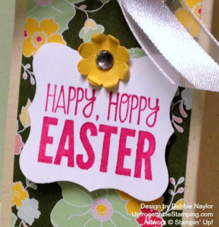 Unfrogettable Stamping  Easter 2-4-6-8 favor box featuring For Peep's Sake stamp set and All Abloom DSP by Stampin' Up!