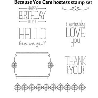 Unfrogettable Stamping | Because You Care hostess set from the Stampin' Up! Occasions catalog available in wood mount, clear mount and photopolymer options
