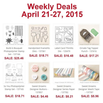Unfrogettable Stamping | Stampin' Up! Weekly Deals Apr 21-27, 2015