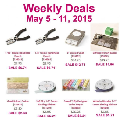 Unfrogettable Stamping | Weekly Deals from Stampin' Up! for May 5-11, 2015
