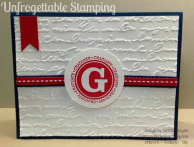 Unfrogettable Stamping | LU graduation card featuring Great Grads stamp set by Stampin' Up!