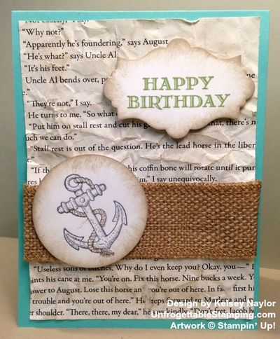 Unfrogettable Stamping Kelsey birthday card