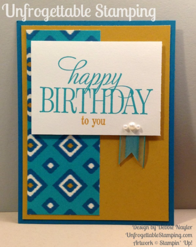 Unfrogettable Stamping | Fabulous Friday birthday card featuring Happy Birthday, Everyone stamp set and Bohemian DSP by Stampin' Up!