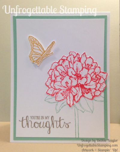 Unfrogettable Stamping | Fabulous Friday card featuring the new In Color and Hostess set Best Thoughts by Stampin' Up!
