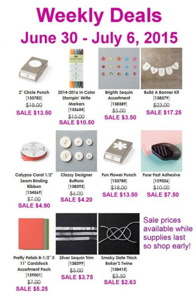 Unfrogettable Stamping | Weekly Deals for June 30-July 6 from Stampin' Up!