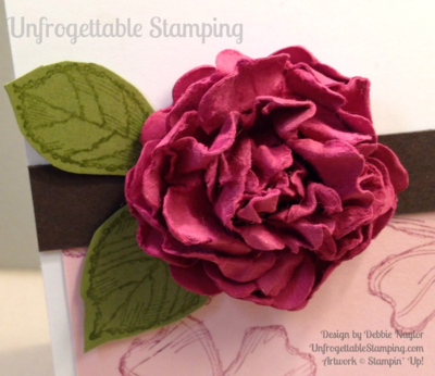 Unfrogettable Stamping | Quick & Easy birthday card featuring a punched paper flower and the Birthday Blossoms stamp set by Stampin' Up! for week of 2015-07-13