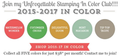 Unfrogettable Stamping | Join my 2015-2017 In Color club!!