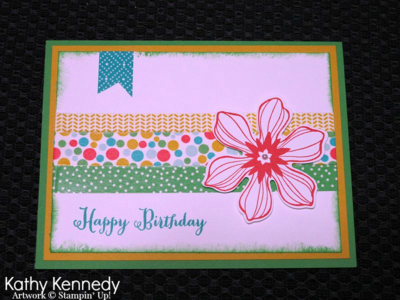 Unfrogettable Stamping | Kathy Kennedy inspiration card