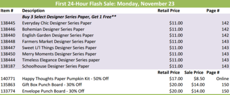 Unfrogettable Stamping | Stampin' Up! Online Extravaganza 24 hourr flash sale for Monday, November 23, 2015