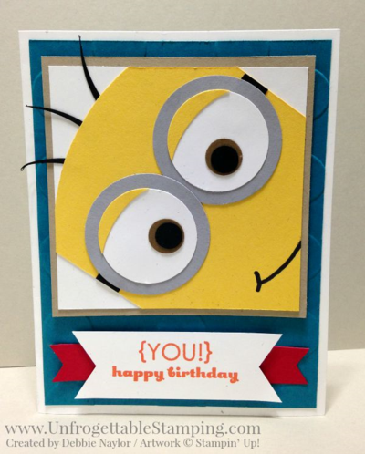 Unfrogettable Stamping | Fabulous Friday Minion punch art birthday card