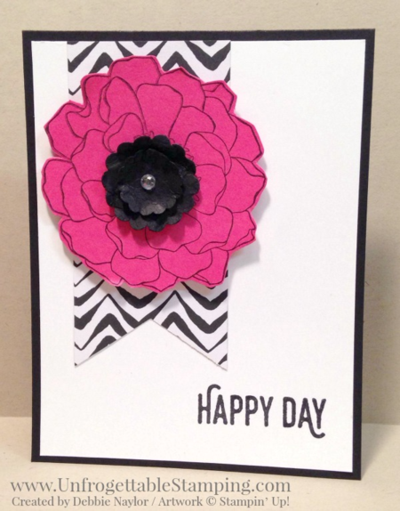 Unfrogettable Stamping | QE Happy Day card featuring the Blended Bloom single stamp and Perfect Pairings Sale-a-Bration stamp set and Go Wild DSP stack by Stampin' Up! for the week of 2016-01-25