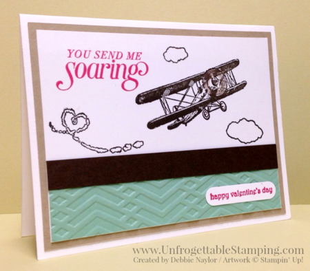 Unfrogettable Stamping | QE Valentine card featuring the Sale-a-Bration exclusive Sky is the Limit stamp set by Stampin' Up! for week of 2016-02-01