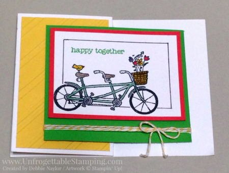 Unfrogettable Stamping | Fabulous Friday Sale-a-Bration card featuring the Pedal Pusher stamp set by Stampiin' Up! - earn it for FREE with a qualifying $50 order!