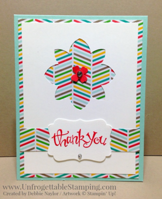 Unfrogettable Stamping | Fabulous Friday set of Thank You cards featuring the A Cherry on Top DSP stack and Sassy Salutations stamp set from Stampin' Up!