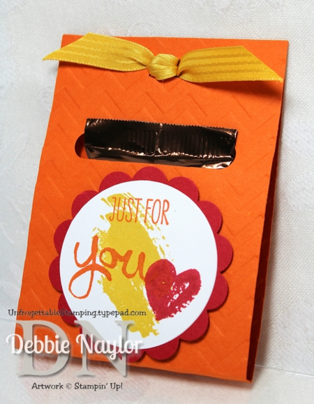Unfrogettable Stamping Fabulous Friday chocolate favor