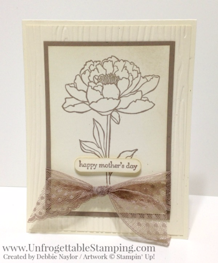 Unfrogettable Stamping | Fabulous Friday monochromatic Mothers Day card featuring the You've Got This stamp set in Tip Top Taupe by Stampin' Up!