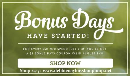 Unfrogettable Stamping BonusDays promot July 2016_US