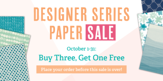 Unfrogettable Stamping | Buy 3 Get 1 Free DSP sale by Stampin' Up!