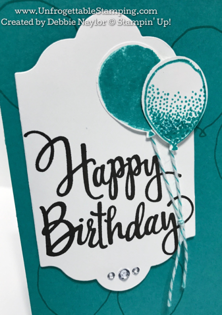 Unfrogettable Stamping | Fabulous Friday Catalog CASE birthday card featuring the Balloon Celebration and Stylized Birthday stamp sets by Stampin' Up!