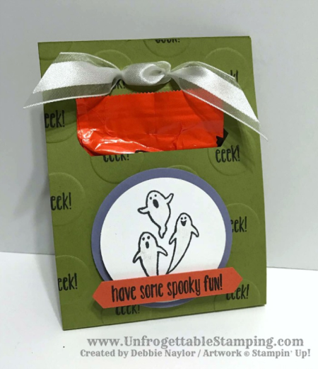 Unfrogettable Stamping | Fabulous Friday Halloween candy favor featuring the Spooky Fun stamp set