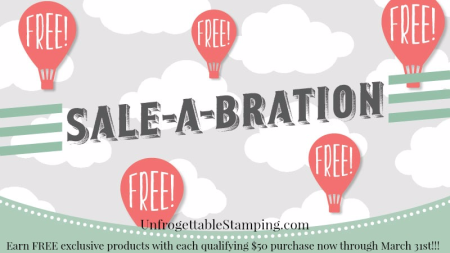 Unfrogettable Stamping   Sale-a-Bration promotion by Stampin' Up!