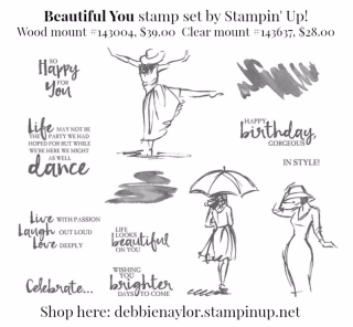 Unfrogettable Stamping | Beautiful You stamp set by Stampin' Up!
