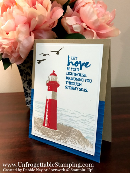 Unfrogettable Stamping | QE CASE'd Hope card featuring the High Tide stamp set by Stampin' Up! for week of hope card 2017-03-27