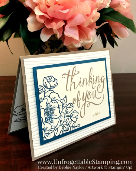 Unfrogettable Stamping | QE thinking of you card featuring the Birthday Blooms and Time of Year stamp sets by Stampin' Up! for the week of 2017-04-24