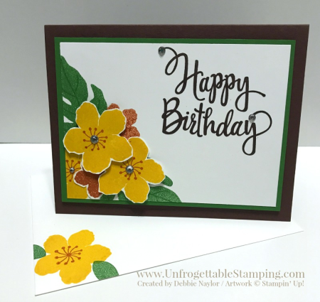 Unfrogettable Stamping | QE birthday card featuring the Botanical Blooms (retiring 5/31/17) and Stylized Birthday stamp sets by Stampin' Up!