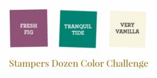 Unfrogettable Stamping   Stampers Dozen Sept 2017 color challenge