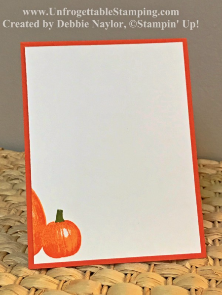 Unfrogettable Stamping   Fabulous Friday thank you card featuring the Gourd Goodness stamp set and Merry Little Christmas DSP from the Holiday catalog along with the Lots of Labels framelits for the Big Shot and the Bow Builder punch from Stampin' Up!