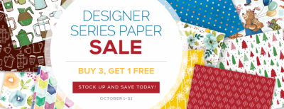 Unfrogettable Stamping | 2017 October Buy 3, Get 1 FREE DSP sale from Stampin' Up! through October 31st
