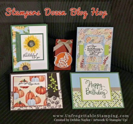 Unfrogettable Stamping | Stampers Dozen Blog Hop featuring the Painted Autumn DSP by Stampin' Up!