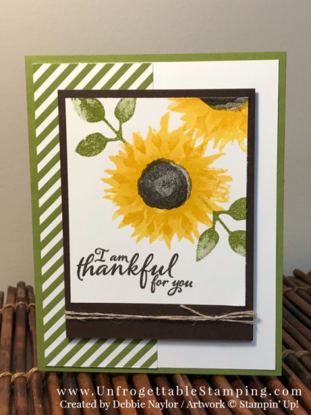 Unfrogettable Stamping   Fabulous Friday thank you Card and matching candy favor featuring the Painted Harvest stamp set by Stampin' Up!