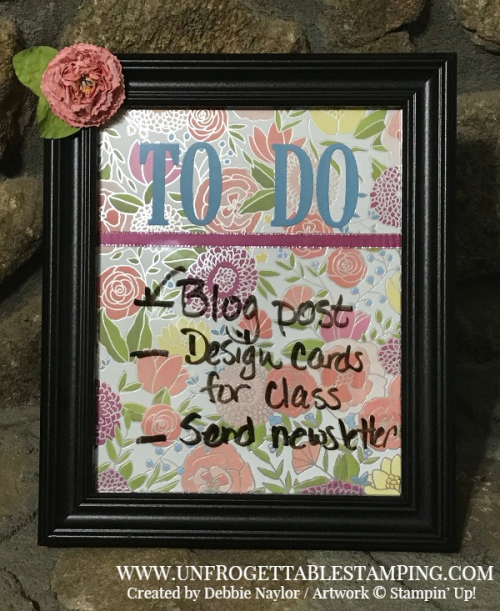 Unfrogettable Stamping | Stampers Dozen blog hop dry erase board featuring the Sweet Soiree product suite
